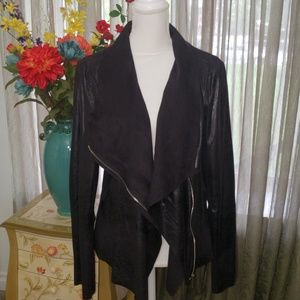CALVIN KLEIN XL Faux Leather/Suede Jacket NWT